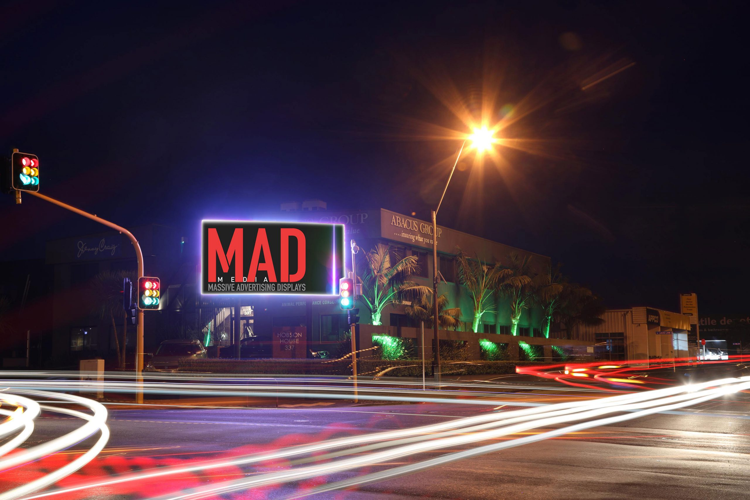 MAD's very popular Hobson Board glowing admits the traffic lights.