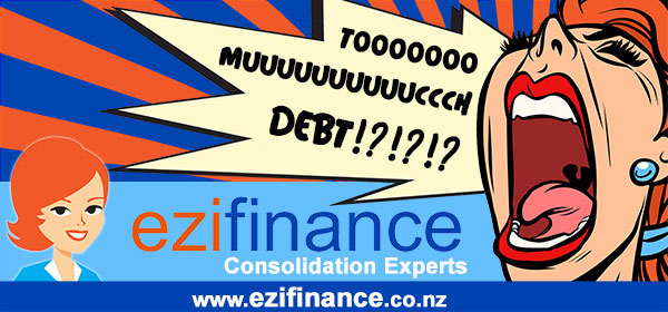 Dublin Board Creative. Too much Debt?! Ezi Finance, consolidation Experts. ezifinance.co.nz