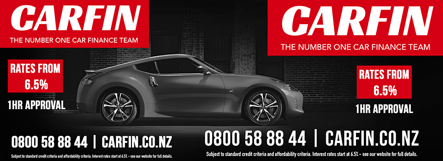 Liardet Board creative. Carfin, the number one car finance team. Rates from 6.5%, 1hour approval. 0800588844. carfin.co.nz