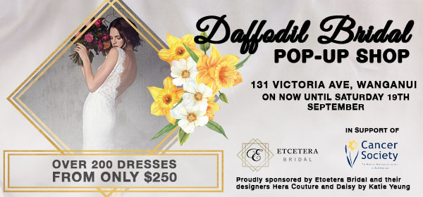 Dublin Board Creative. Daffodi Bridal Pop Up Shop. Over 200 dresses from only $250. Etcetera Bridal. In support of Cancer Society