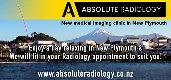 Dublin Board Creative. Absolute Radiology, enjoy a day relaxing in New Plymouth and we will fit in your Radiology appointment to suit you! www.absoluteradiology.co.nz