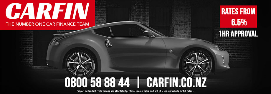 Pukete Board creative. Carfin, the number one car finance team. Rates from 6.5%, 1hour approval. 0800588844. carfin.co.nz