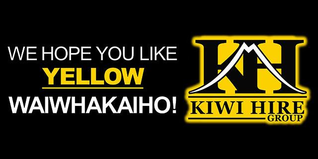 Hobson Board creative. We hope you like yellow Waiwhakaiho! Kiwi Hire Group.