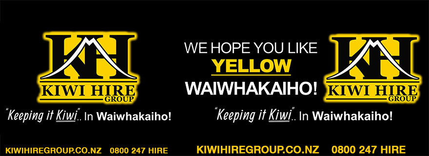Liardet Board creative. Kiwi Hire Group, Keeping it Kiwi in Waiwhakaiho. kiwihiregroup.co.nz. 0800 247 HIRE